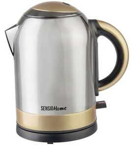 SensioHome 3kw Rapid Boil Bullet Kettle Stainless Steel & Gold Finish