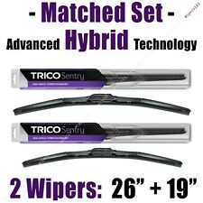 "Matched Set of 2 Hybrid Wipers 26""+19"" Trico Sentry Wiper Blades - 32-260 32-190"