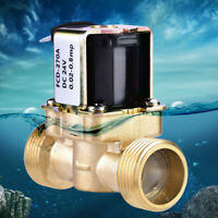 "1pcs 3/4"" N/C Normally Closed Brass Electric Solenoid Magnetic Water Valve DC24V"