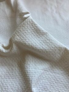 """White 1/2"""" Matelasse Quilted Fabric Piece 24""""W x 16""""L"""