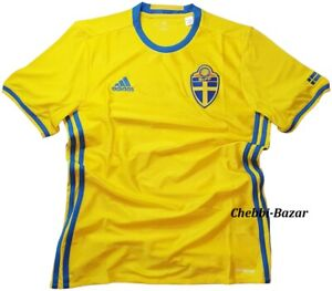 Adidas Schweden SVFF Home Jersey Herren Fußball Trikot Sport Gelb S - 2XL NEU