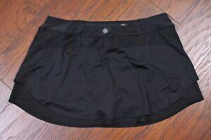 Athleta Bustle Skirt Skort Black Women's Large L