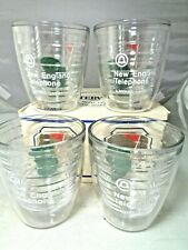 4 Rare Vintage New England Bell Telephone TERVIS Tumblers Golf Hole Theme w/ Box