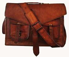 Genuine Retro Men's Vintage Goat Leather Satchel Shoulder Bags Messenger Bag New