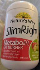 Nature's Way Slim Right Metabolift Fat Burner 90 Tablets, Increase Metabolism