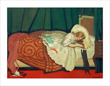 Vallotton - Woman Playing with Cat fine art print poster wall art various sizes
