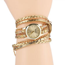Women Fashion Multi-layer Leather Band Casual Watch Analog Quartz Wrist Watches