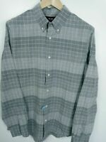 JACK SPADE New York Mens Casual Long Sleeve Shirt Grey Large Cotton (Drycleaned)