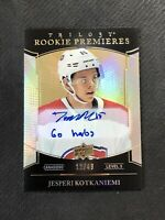 2018-19 TRILOGY JESPERI KOTKANIEMI LEVEL 3 ROOKIE PREMIERES INSCRIBED #ed 12/49