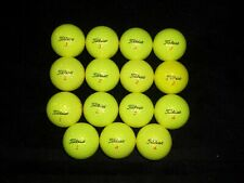 15 Yellow Titleist Trufeel Golf Balls
