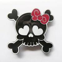 Black Punk Rock Tattoo Skull Girl Metal Fashion Belt Buckle