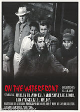 POSTER : MOVIE REPRO:  ON THE WATERFRONT - MARLON BRANDO -  FREE SHIP -  RP75 X