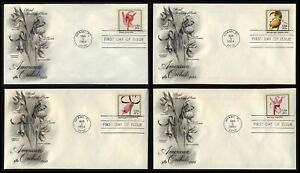 #2076-2079 20c Orchids, Art Craft FDC ANY 5=