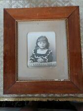 Nr15) Bilderrahmen Portrait, Kind, Antike Fotografie, Jugendstil. Gerahmt