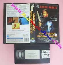 VHS film OMICIDIO INCROCIATO 1993 Chuck Norris CANNON WIV 32036 (F145) no dvd