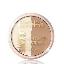 Eveline Highlighter and Bronzer Pressed Powder Duo Face Make UP Dark Glam 57