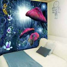 USA Magic Forest Mushroom Tapestry Wall Hanging Psychedelic Hippie Blanket Decor