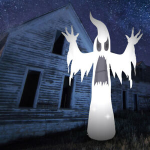 Inflatable Outdoor Halloween Ghost Decoration - 2.4m (7ft 11) - Mains Powered