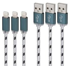 Aasama 6 Feet Certified Nylon Braided 8 Pin Lightning to USB Cable (1)  (3 Pack)