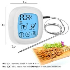 Touchscreen Cooking Food Thermometer Instant Read Function Stainless Steel Probe