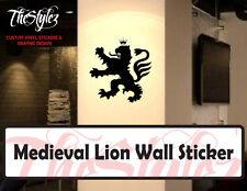 Medieval Lion Silhouette Vinyl Sticker