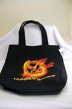 The Hunger Games Flaming Mockingjay Logo Black Tote Bag *New