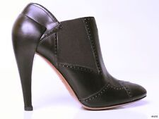 new $1630 ALAIA black leather zigzag pull-on ANKLE BOOTS shoes 39.5 US 9.5 - HOT