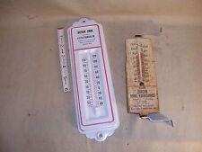 2 Vintage Metal Thermometers Burcon Home Furnishings MI Botran-Enide IL WI USA