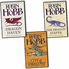 Robin Hobb The Rain Wild Chronicles 3 Books Collection Set City Of Dragons Haven