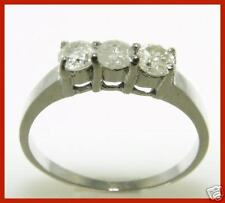 0.56cwt-3Stone Diamond Ring-10KWG-Sz5.50-$1176.00
