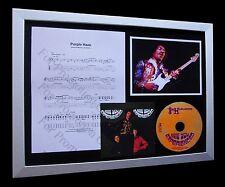 JIMI HENDRIX Purple Haze LTD Nod CD MUSIC FRAMED DISPLAY+EXPRESS GLOBAL SHIPPING