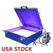 "24"" x 26"" Precise Silk Screen Printing Vacuum Exposure Unit + Compressor - USA"