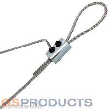 2mm-3mm BZP Steel Wire Rope Loop Clamp Grip DIY Eye Let Allen Key FREE P+P