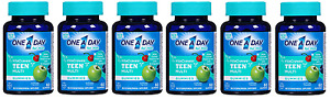 One A Day Vitacraves Teen for Him, 60 Count (6 Pack)