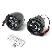 "1 Pair Motorcycle ATV UTV Bike Waterproof Loud Speaker Amplifier 12V 3"" 30W"