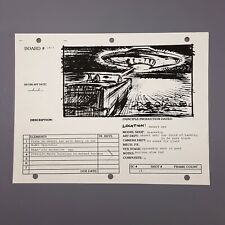 ATTACK OF THE 50FT WOMAN - Production Used Storyboard, Spaceship above Nancy