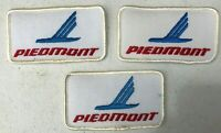 Vintage Set of 3 Piedmont Airlines Patches