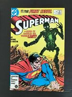 SUPERMAN 2ND SERIES #1 DC COMICS 1987 VF FIRST MODERN METALLO