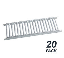 20 x Galvanised Brick Air Vents Slotted Style 230 x 75mm