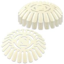 240 TIps Natural Color Nail Polish Art Tips Display Wheel Display Nail Art Work
