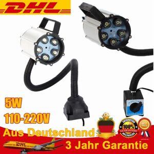 CNC Maschinenlampe Magnetische LED Arbeitsleuchte Flexibel Licht Arm 110-220V