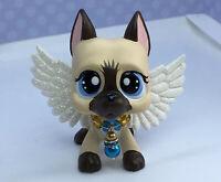 Littlest Pet Shop, Dog Puppy, Great Dane Chocolate OOAK Custom Hand Painted Nice