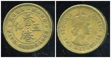 HONG KONG 5 cents five 1963
