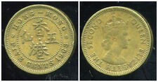 HONG KONG 5 cents five 1963  ( bis )