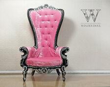 1/4 baroque armchair, black & pink, doll fabulous throne