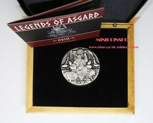 Choice Mint 2016 ODIN RULER AESIR Legends of Asgard Max Relief 3 oz Silver Coin