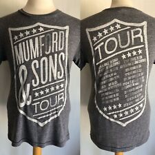 MUMFORD & SONS (2013) Official North American Concert Tour Dates T-Shirt Small
