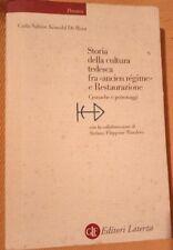 "Kowohl De Rosa ""Storia della cultura tedesca fra ""ancien régime"" e .."" Laterza"