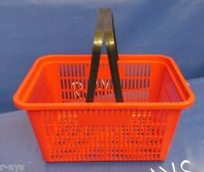R-Ays (Red) Retail Standard-Size Shopping Basket w/ Black Plastic Handles