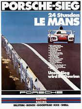 VINTAGE 1976 LE MANS AUTO RACING POSTER PRINT 36x27